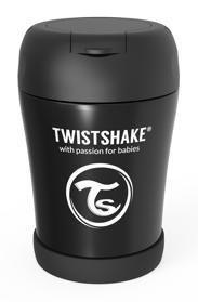 TWISTSHAKE Termoska na jedlo čierna - Twistshake Termoska 0,35l