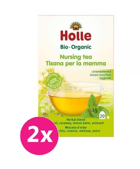 2x HOLLE Bio čaj pre dojčiace mamičky, 30 g - HOLLE Bio čaj pre dojčiace mamičky 2 x 30 g