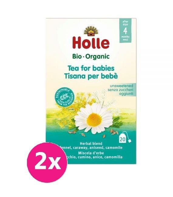 2x HOLLE Čaj detský Bio, 30 g