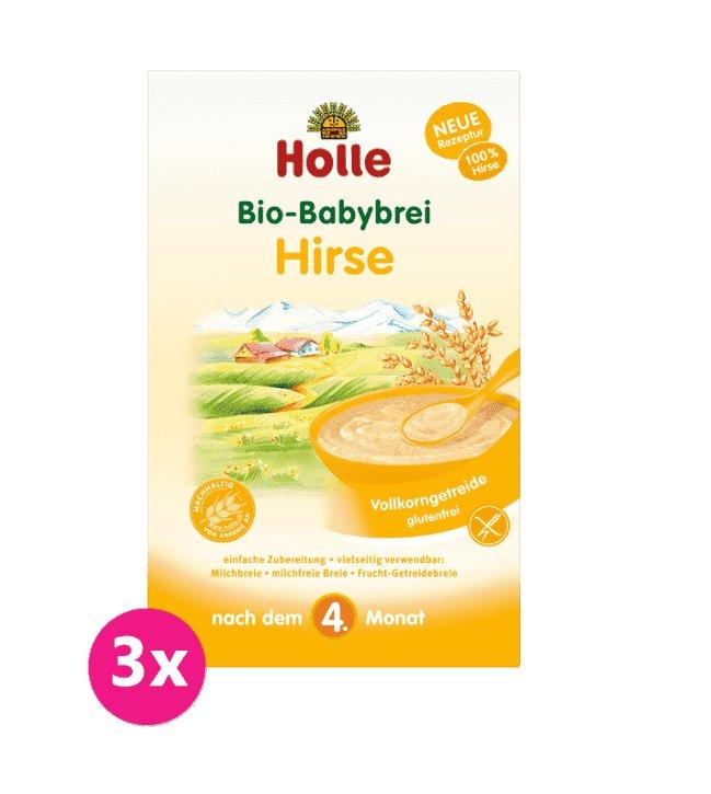 3x HOLLE Kaša nemliečna Bio pšenová 250 g