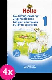 4x HOLLE Bio dojčenská mliečna výživa na báze kozieho mlieka 1, 400 g