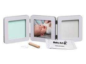 BABY ART Dvojitý rámik na odtlačky a fotografiu - pastel