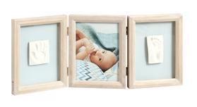 BABY ART Dvojitý rámik na odtlačky a fotografiu - Stormy