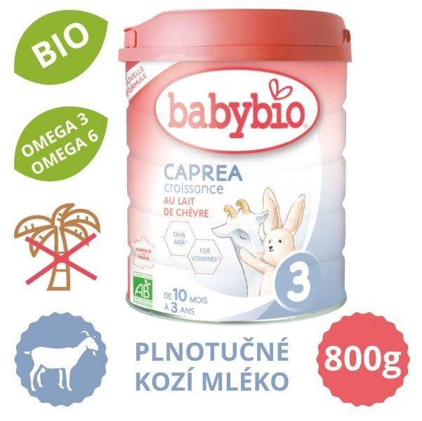BABYBIO CAPREA 3 kozie dojčenské mlieko (800 g)