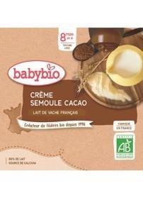 BABYBIO Kapsička krém, kakao, krupička (4x 85 g)