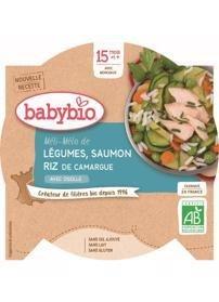 BABYBIO Menu zelenina s lososom a ryžou (260 g)