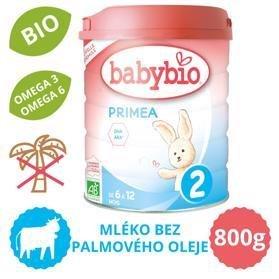 BABYBIO PRIMEA 2 dojčenské bio mlieko (800 g)