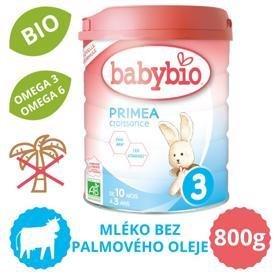 BABYBIO PRIMEA 3 Croissance dojčenské bio mlieko (800 g)