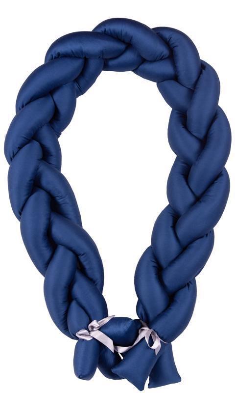 BABYMATEX Mantinel do postieľky Vrkoč 200cm modrá