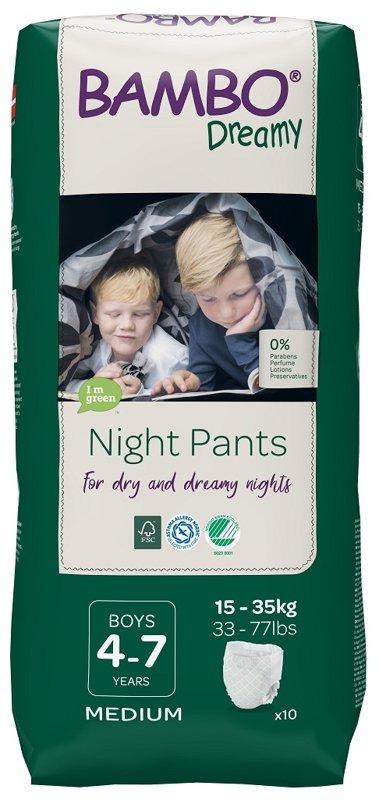 BAMBO Dreamy Night Nohavičky plienkové jednorázové Pants Boy 4-7 rokov, 10 ks, pre 15-35 kg