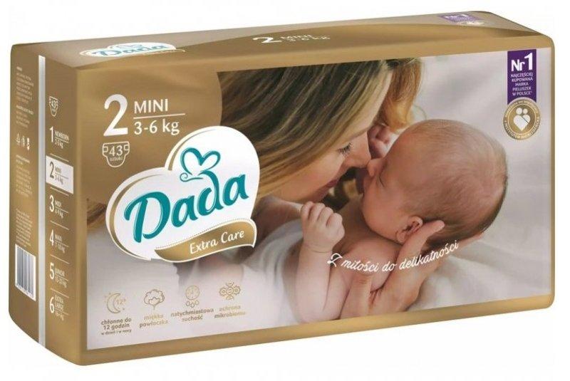 DADA Jednorázové plienky Extra Care veľ. 2 (3-6 Kg), 43 ks