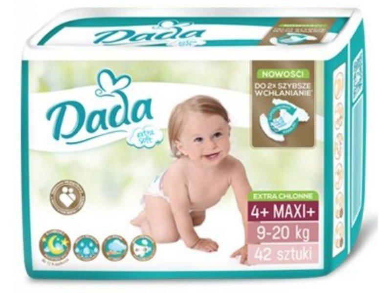DADA Jednorázové plienky Extra Soft Maxi, veľ. 4+ ( 9-20 kg), 42 ks