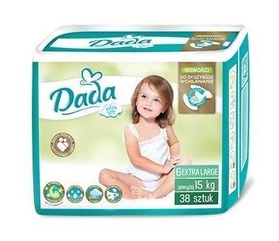 DADA Jednorázové plienky Extra Soft XL veľ. 6 (15+ kg), 38 ks