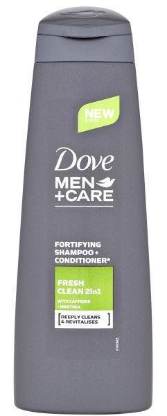 DOVE Šampón a kondicionér pre mužov Men+Care Fresh Clean 2v1 250ml