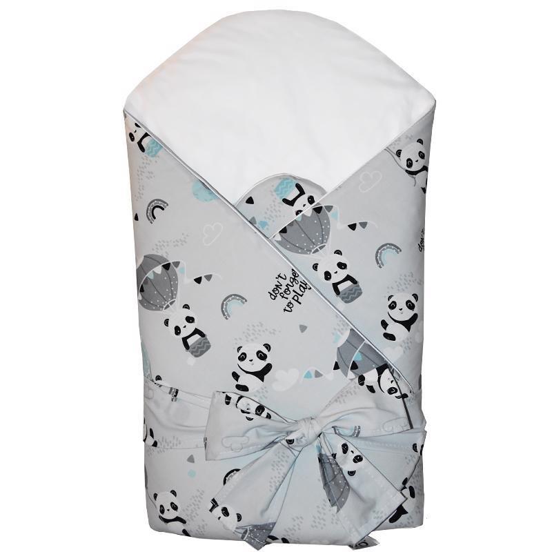EKO Zavinovačka bavlnená s kokosovým vnútrom Panda 75x75cm
