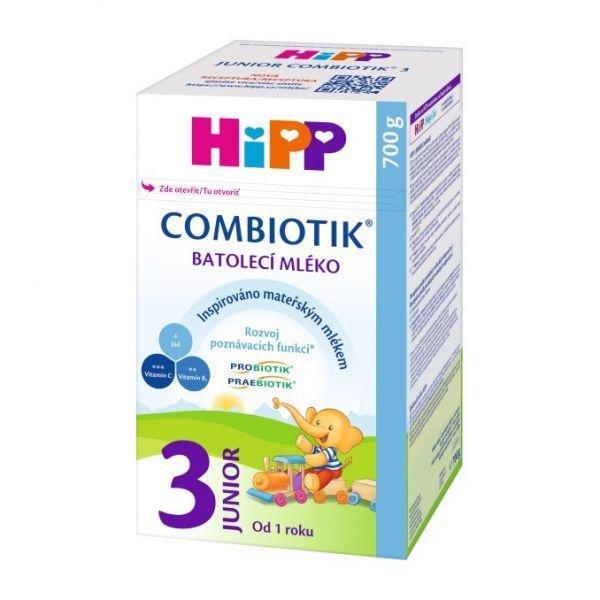 HiPP Mlieko dojčenské 3 batoľacie Junior Combiotik 700g