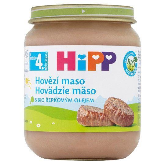 HiPP Príkrm mäsový BIO Hovädzie mäso 125g