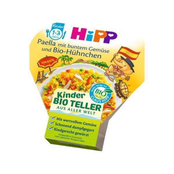 HiPP Príkrm zeleninovo-mäsový BIO Paella so zeleninou a kuracím mäsom 250g
