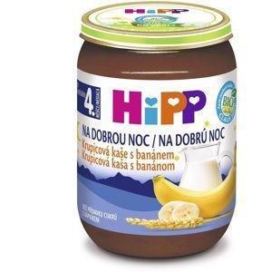 HIPP Kaša mliečna Bio na dobrú noc krupicová s banánom 190g