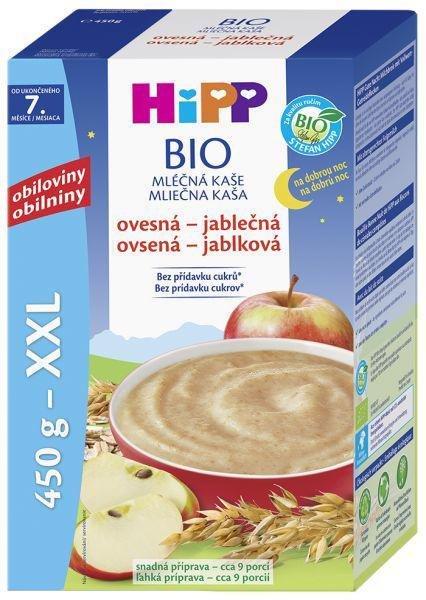 HiPP Kaša mliečna Bio na dobrú noc ovseno-jablčná 450g