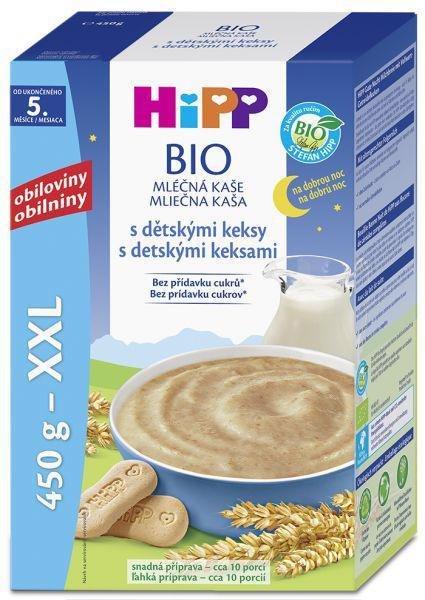 HiPP Kaša mliečna Bio na dobrú noc s detskými keksíkmi 450g