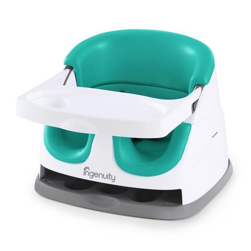 INGENUITY Podsedák na jedálenskú stoličku 2v1 Baby Base Ultramarine Green 6m+, do 22kg
