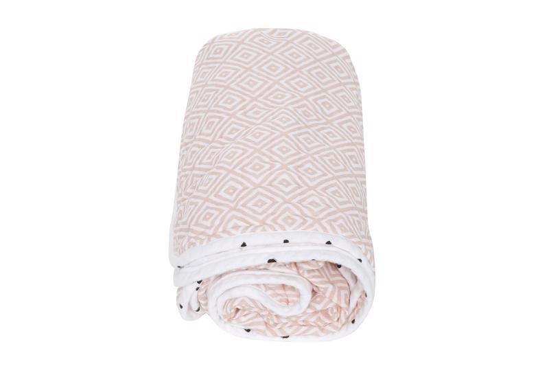 MOTHERHOOD Deka bavlnená mušelínová dvojvrstvová Pre-Washed Pink Squares 95x110cm