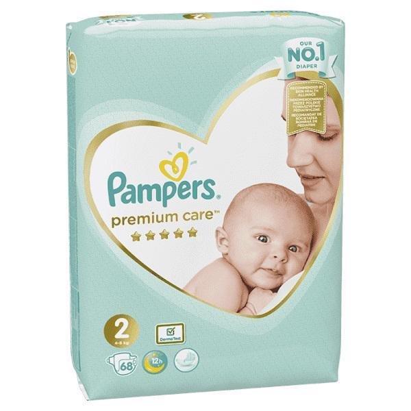 PAMPERS Plienky Premium Care 2 MINI 4-8kg 68 ks