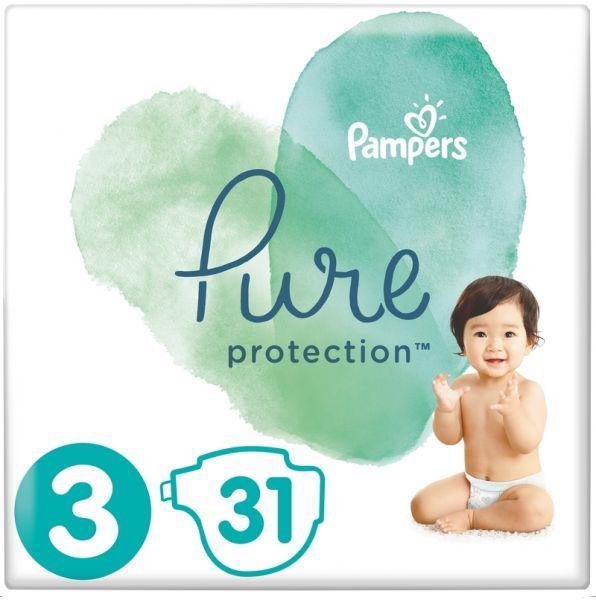 PAMPERS Plienky Pure Protection 3 MIDI 6-10kg 31ks