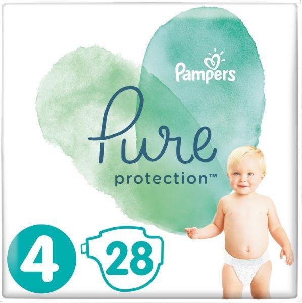 PAMPERS Plienky Pure Protection 4 MAXI 9-14kg 28ks