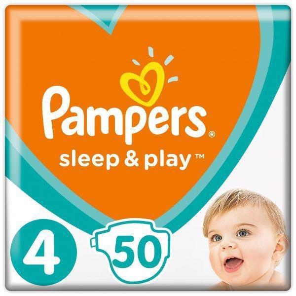PAMPERS Plienky Sleep&Play 4 MAXI 9-14kg 50 ks