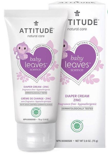 ATTITUDE Zinkový krém na zapareniny Baby leaves bez vône 75 ml
