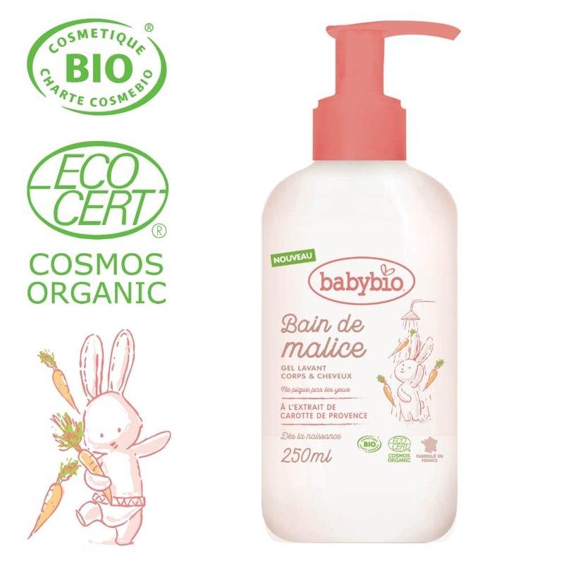 BABYBIO Sprchový BIO gél pre bábätká od narodenia 250 ml