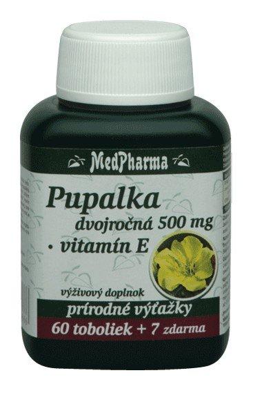 Medpharma Pupalka dvojročná 500mg + Vit. E 67tbl