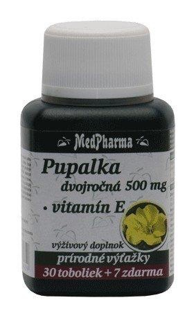 Medpharma Pupalka dvojročná 500mg + Vit. E 37tbl