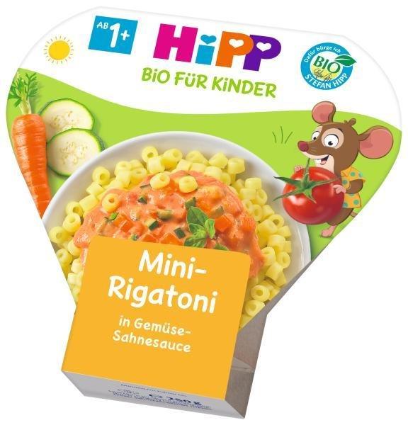 Príkrm zeleninový BIO Mini Rigatoni so zeleninou v smotanovej omáčke 250g Hipp