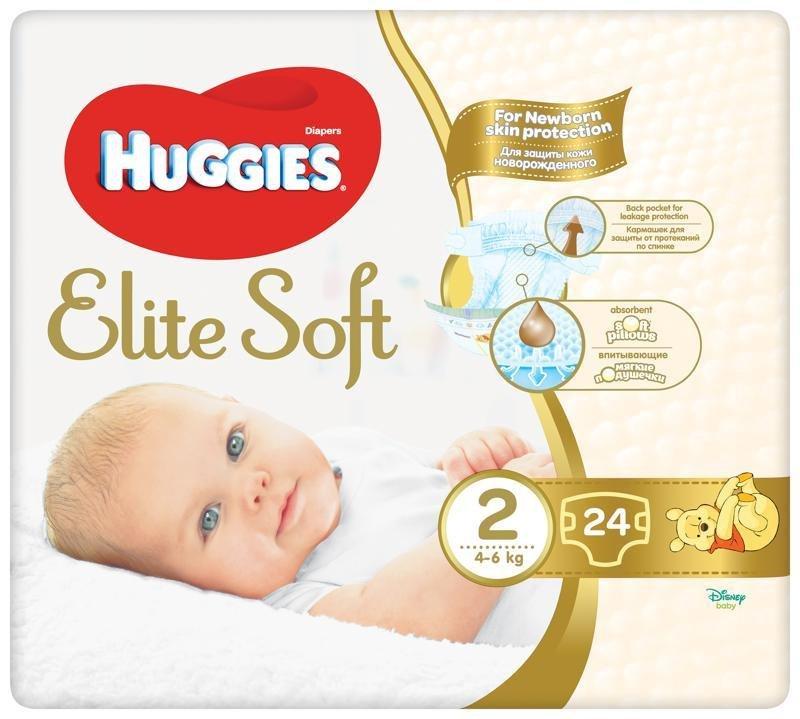 HUGGIES Jednorázové plienky Elite Soft veľ. 2, 24 ks