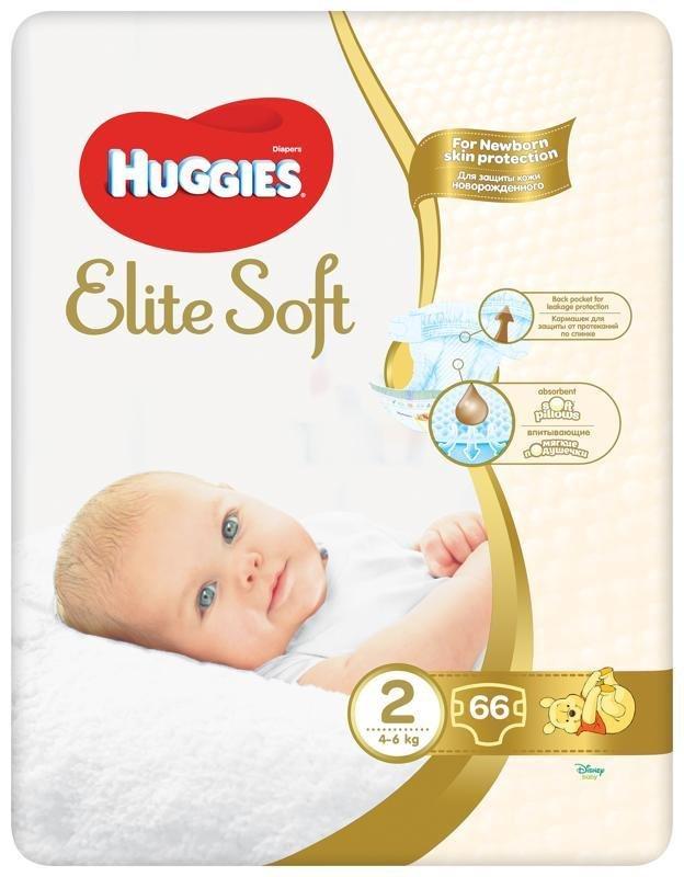 HUGGIES Jednorázové plienky Elite Soft veľ. 2, 66 ks