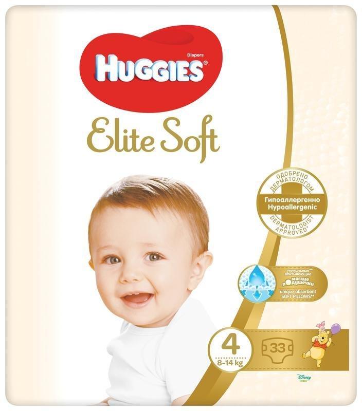 HUGGIES Jednorázové plienky Elite Soft veľ. 4, 33 ks