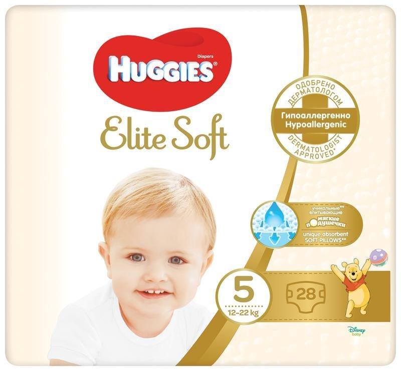 HUGGIES Jednorázové plienky Elite Soft veľ. 5, 28 ks