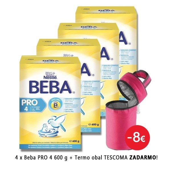 Beba PRO 4 600 g 4 ks + Tescoma termo obal ZADARMO