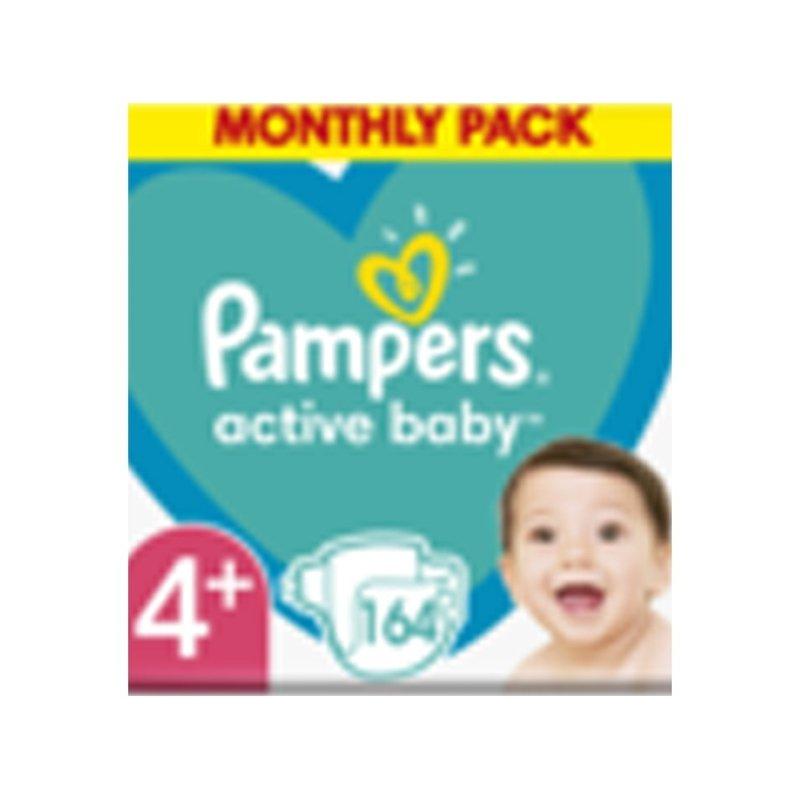 PAMPERS Active Baby 4+ (10-15 kg) 164 ks Maxi měsíční balení - jednorázové plienky
