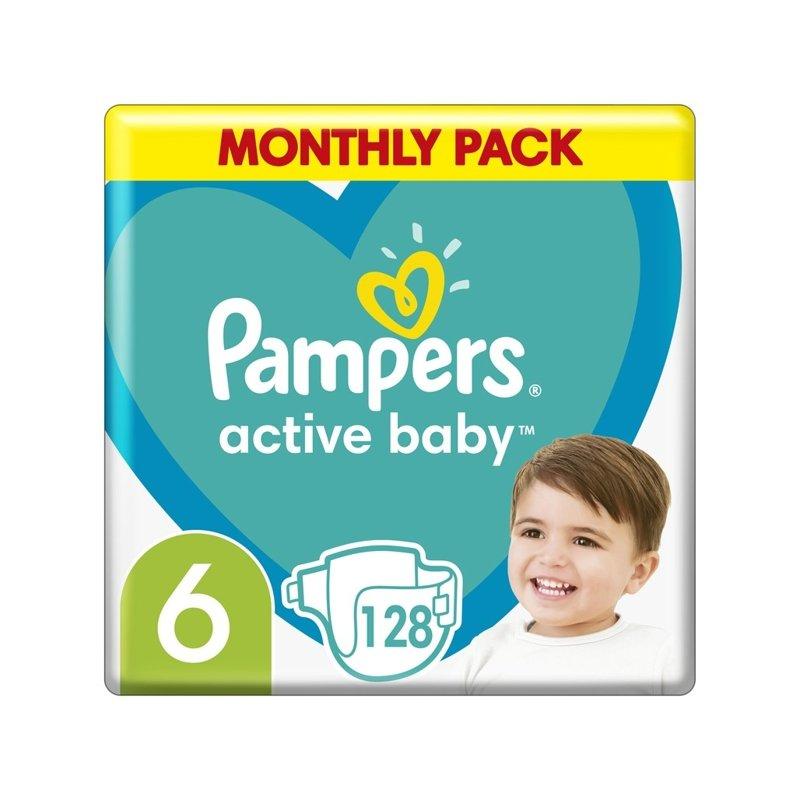 PAMPERS Active Baby 6 (13-18 kg) 128 ks Extra Large - jednorázové plienky