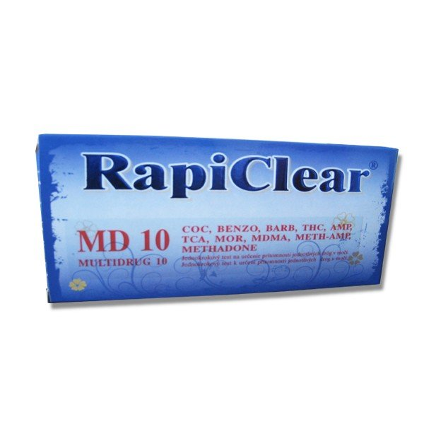 RapiClear Test na prítomnosť drog v moči MULTIDRUG 10 1ks