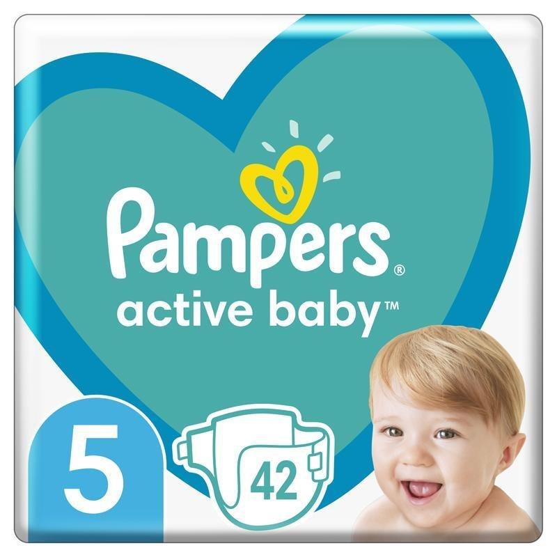PAMPERS Active Baby jednorazové plienky veľ. 5, 42 ks, 11-16 kg