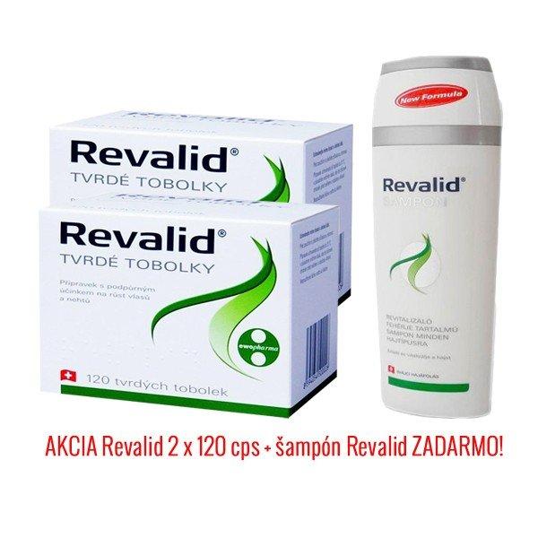 Revalid 120 + 120 cps + šampón Revalid 250 ml Zadarmo