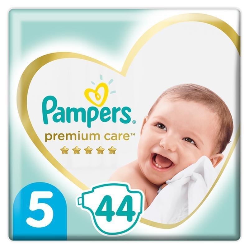 PAMPERS Premium Care jednorazové plienky veľ. 5, 44 ks, 11-16 kg