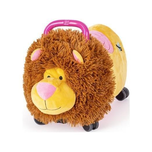 TEDDIES Odrážadlo Funny wheels Rider Ride-On levíček plyšový ružový 12 m +