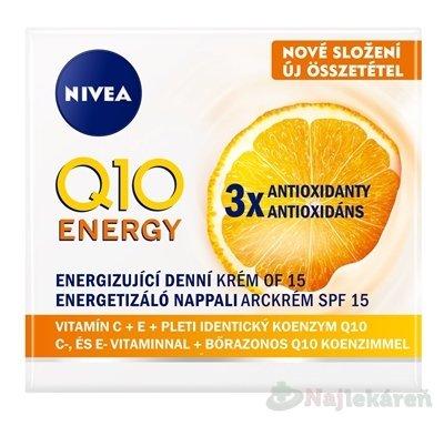 NIVEA Energizujúci denný krém Q10 ENERGY SPF15 - Nivea Energizujúci denný krém proti vráskam Q10 plus SPF 15 50 ml