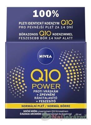 NIVEA Spevňujúci nočný krém Q10 POWER - Nivea Visage Q10 Plus nočný krém proti vráskam 50 ml